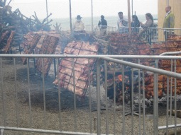 Fire roasted pig was a hit this year, pretty good, and had one of the only long lines.